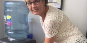 Our wonderful receptionist Lorraine enjoying a quick cuppa!